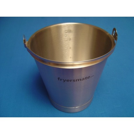 Stainless Steel Pail/Bucket with Footer